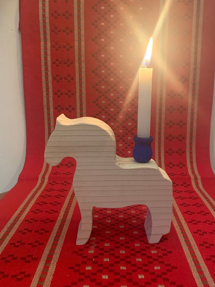 Fjord Horses with Candle Cup Set of 2
