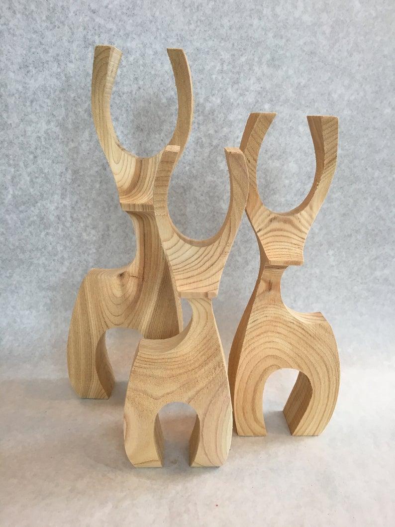 Scandinavian Design Deer - Family of 3